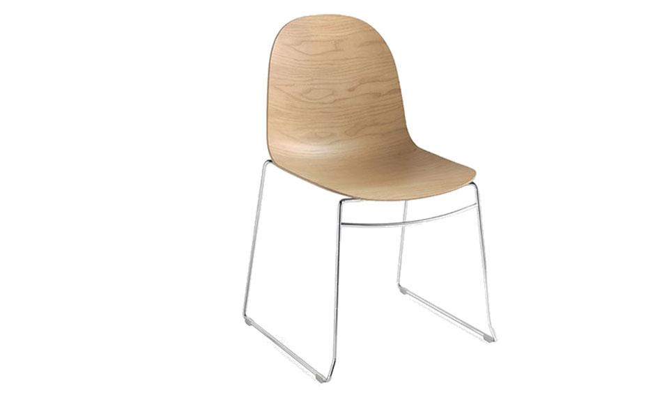 Καρέκλα τραπεζαρίας Connubia Calligaris Academy-CB1696-3D