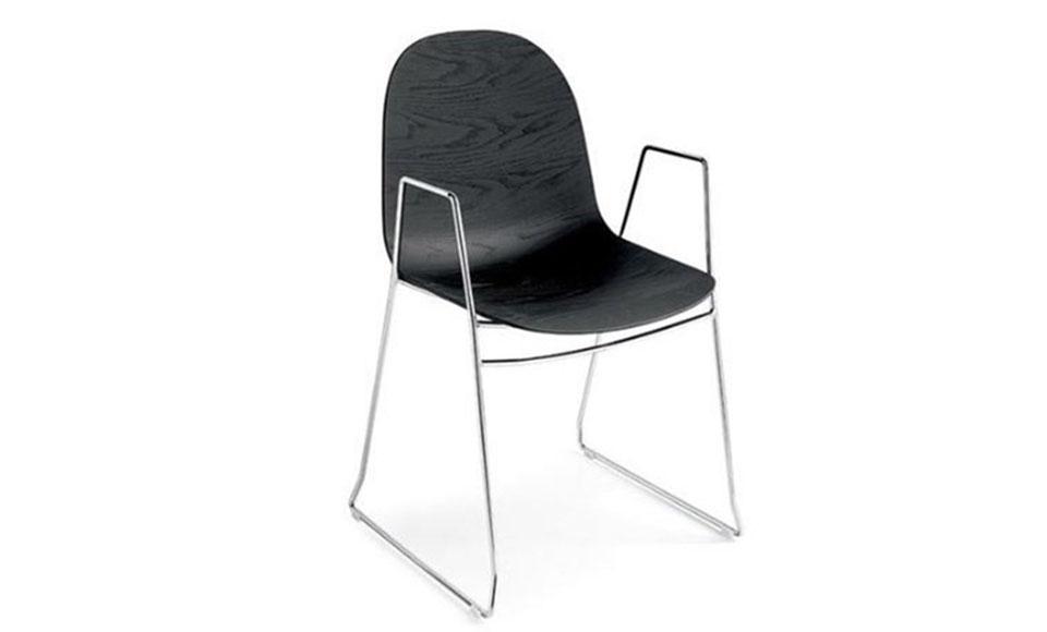 Καρέκλα τραπεζαρίας Connubia Calligaris Academy-CB1697-3D