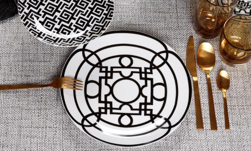 Σερβίτσιο πιάτων-φαγητού Cryspo Trio Black Jade-25.637.40