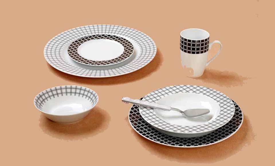 Σερβίτσιο πιάτων-φαγητού Cryspo Trio Rubik-24.460.40