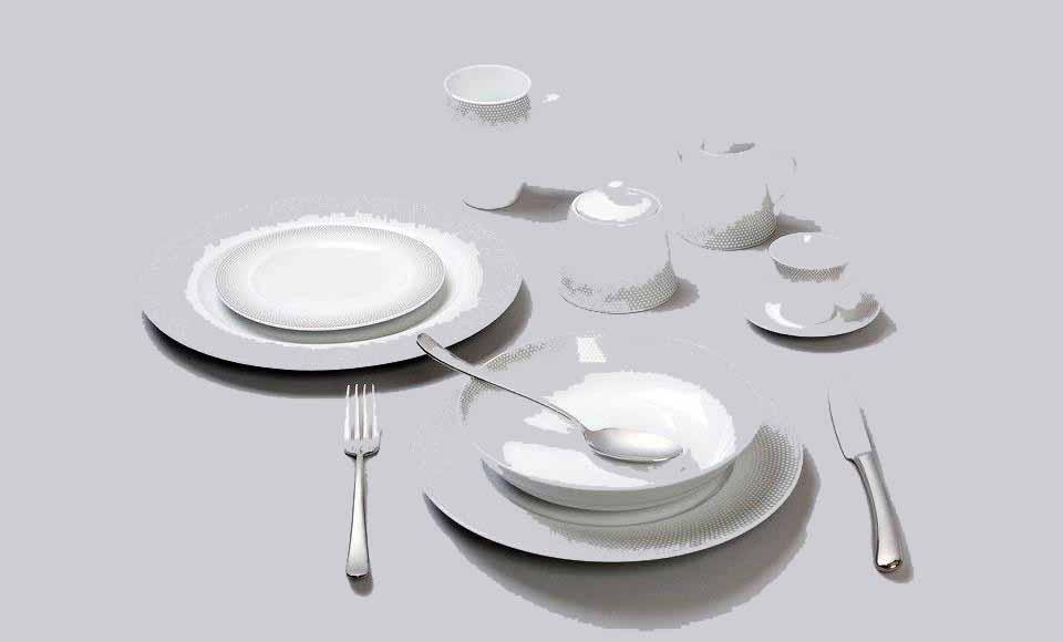 Σερβίτσιο πιάτων-φαγητού Cryspo Trio Bonito-Grey