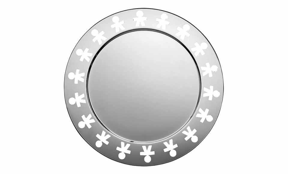 Alessi δίσκος σερβιρίσματος ανοξείδωτοςστο σχέδιο Girotondo