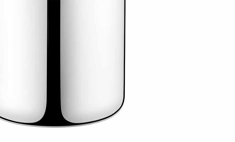 Λεπτομέρειες στο σώμα τουδοχείου ψύξης κρασιούWine & Barτης εταιρείας Georg Jensen