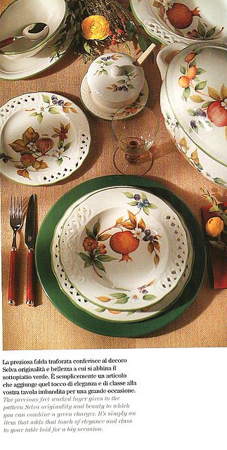 Σερβίτσιο πιάτων-φαγητού Tiffani Selva-Selva