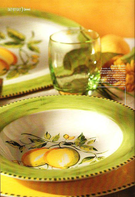 Σερβίτσιο πιάτων-φαγητού Tiffani Limoni-Limoni