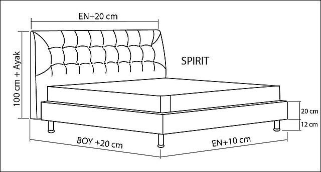 Κρεβάτι επενδυμένο Sofa And Style Spirit-Spirit