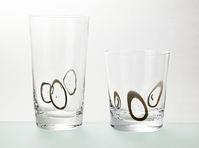 Σερβίτσιο ποτηριών Cryspo Trio Circles -Black
