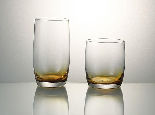 Σερβίτσιο ποτηριών Cryspo Trio Half-Amber