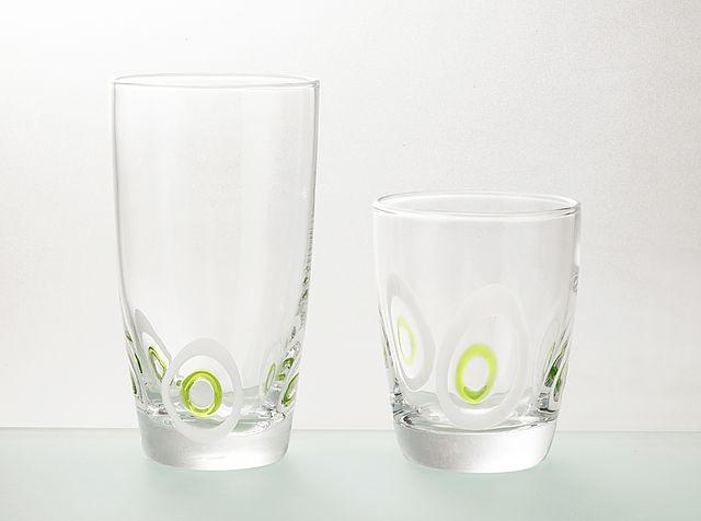 Σερβίτσιο ποτηριών Cryspo Trio pua-Green