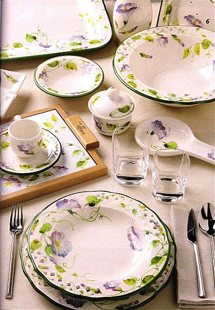 Σερβίτσιο πιάτων-φαγητού Tiffani Sweet Home-Blue Bell