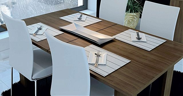 Τραπέζι τραπεζαρίας Oikia kantis Φαίη-Νο 81 Καρυδιά