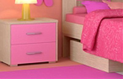 Παιδικό Κομοδίνο Oikia kantis Νο 7-Νο 7 Ροζ