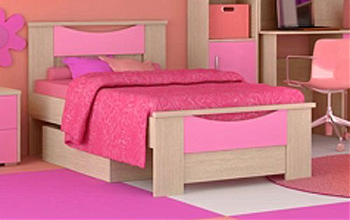 Παιδικό Κρεβάτι Oikia kantis Smile-Νο 15 Ροζ