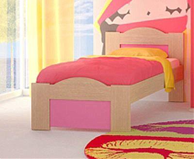 Παιδικό Κρεβάτι Oikia kantis Wave-No 47 Ροζ