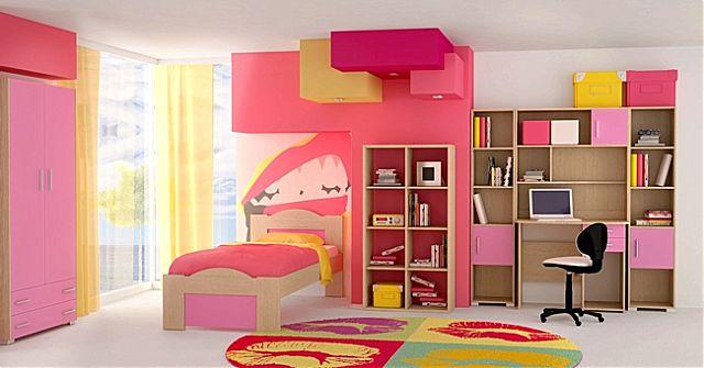 Παιδικό-Εφηβικό δωμάτιο Oikia kantis Wave-Wave Ροζ