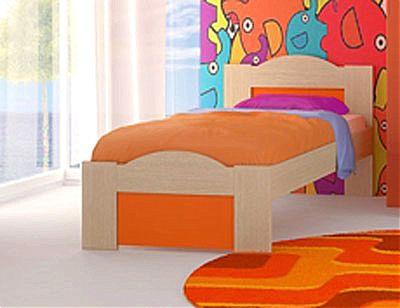 Παιδικό Κρεβάτι Oikia kantis Wave-No 47 Πορτοκαλί