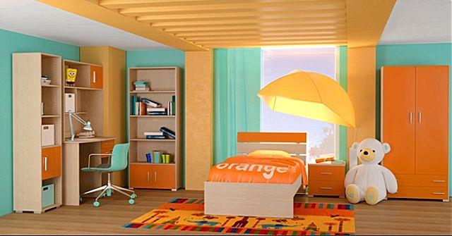 Παιδικό-Εφηβικό δωμάτιο Oikia kantis Nota-Nota Πορτοκαλί