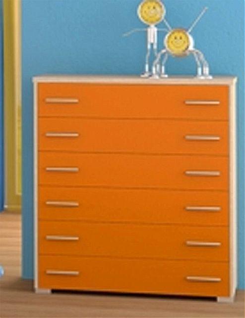 Παιδική Συρταριέρα-Σιφονιέρα Oikia kantis Νο 4-Νο 4 Πορτοκαλί