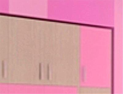 Παιδικό Πατάρι Ντουλάπας Oikia kantis Νο 35-Νο 35 Δρυς-Ροζ