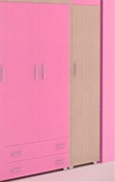 Παιδική Ντουλάπα Oikia kantis Νο 3-Νο 3  Δρυς-Ροζ