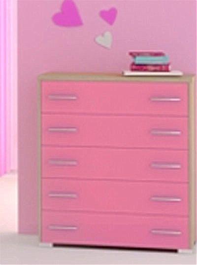 Παιδική Συρταριέρα-Σιφονιέρα Oikia kantis Νο 5-Νο 5 Ροζ