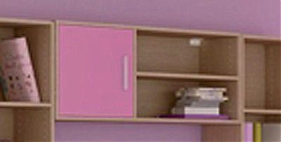 Παιδική εταζέρα/Παιδικό ράφι Oikia kantis Silky-Νο 43 ροζ