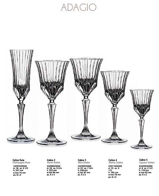 Σερβίτσιο ποτηριών RCR Adagio-Adagio