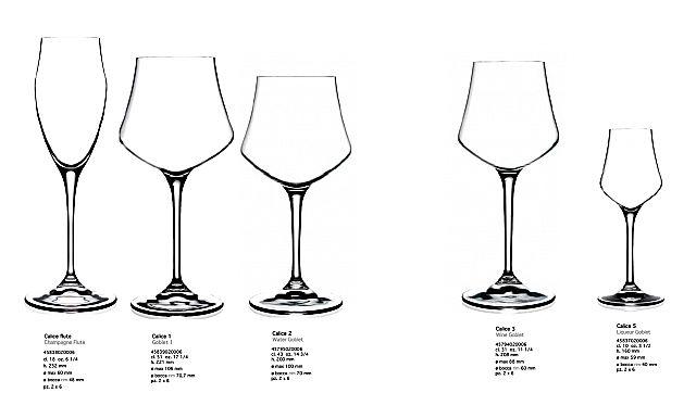 Σερβίτσιο ποτηριών RCR Ater-Alter