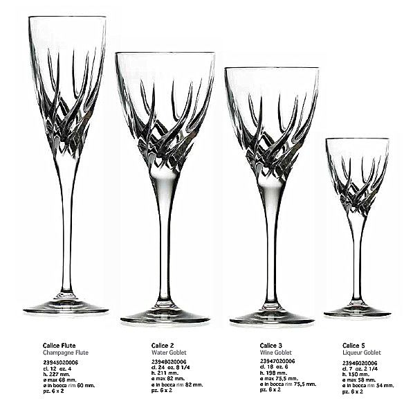 Σερβίτσιο ποτηριών RCR Trix-Trix