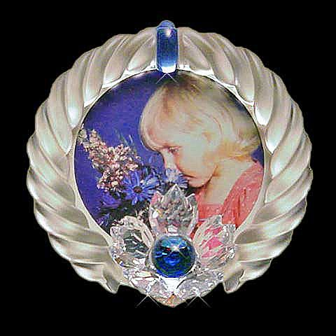 Κορνίζα διακοσμητική Swarovski Blue Flower-Blue Flower 207892