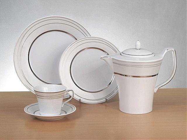 Σερβίτσιο πιάτων-φαγητού Cryspo Trio Platinum-Platinum