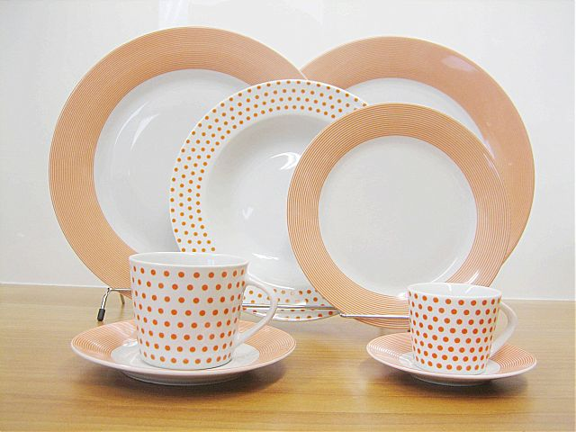 Σερβίτσιο πιάτων-φαγητού Cryspo Trio Matrix-Orange